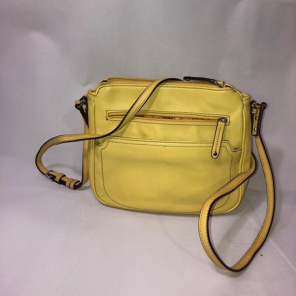 Tignanello Handbags - Pale Yellow Tignanello cross body purse